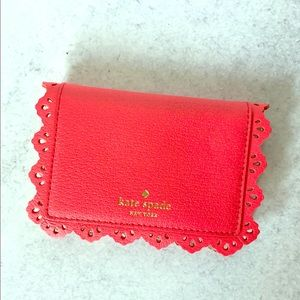 Kate Spade Coral Scalloped Wallet, NWOT